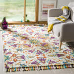 Safavieh Vail  Ivory & Purple Wool Rug - 9
