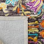 Vail  Black & Purple Wool Rug - 8