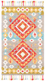 Vail Gray & Red Wool Rug - 2