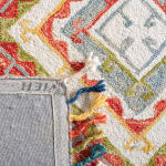 Vail Gray & Red Wool Rug - 4