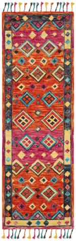 Vail Orange & Pink Wool Rug - 2