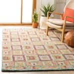 Safavieh Vail Pink & Gold Wool Rug - 1