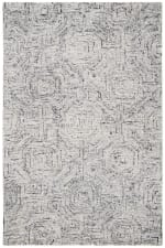 Vail  Gray & White Wool Rug - 6