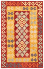 Safavieh Vail Red & Gold Wool Rug - 2