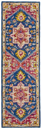 Safavieh Vail Blue & Orange Wool Rug - 2