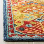 Safavieh Vail Blue & Orange Wool Rug - 3