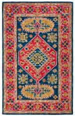 Vail Red & Blue Wool Rug - 2