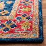 Vail Red & Blue Wool Rug - 3