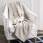 Petal Knit Throw - 1