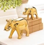 Large Golden Elephant Figure - 1