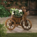 Barrel Tricycle Planter - 1