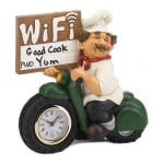 Chef with WiFi Sign and Clock - 1