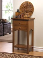 Natural Wooden Side Table - 3