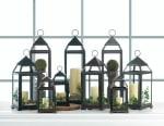 Large Rustic Silver Contemporary Lantern - 4