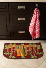 J&M Wine Bottle Print Kitchen Slice Rug 18x30 - 2