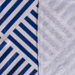 J&M Navy Grid Vinyl Tablecloth 60x84 - 3