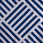 J&M Navy Grid Vinyl Tablecloth 60x84 - 4