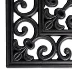 J&M Wrought Iron Rubber Doormat 18x30 - 4