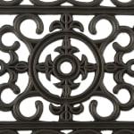 J&M Wrought Iron Rubber Doormat 18x30 - 6