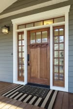 J&M Wrought Iron Rubber Doormat 18x30 - 5