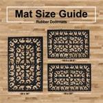 J&M Wrought Iron Rubber Doormat 18x30 - 7