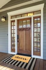 J&M Cheers Vinyl Back Coir Doormat 18x30 - 4