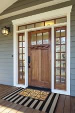 J&M Tuffridge Light Daisy Doormat 18x30 - 6