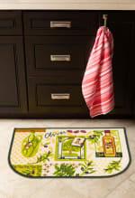 J&M Olives Print Kitchen D-Slice Rug 18x30 - 2