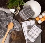 J&M Gray Waffle Weave Dishtowel (Set of 6) - 5