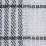 J&M Gray Waffle Weave Dishtowel (Set of 6) - 6