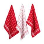 J&M Red Waffle Weave  Dishtowel & Dishcloth (Set of 8) - 2
