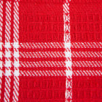 J&M Red Waffle Weave  Dishtowel & Dishcloth (Set of 8) - 3