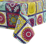 J&M Morocco Summer Vinyl Tablecloth 60x84 - 3