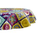 "Morocco Summer Vinyl Tablecloth 70"" Round - 2"