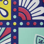 "Morocco Summer Vinyl Tablecloth 70"" Round - 3"