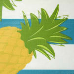 J&M Pineapple Vinyl Tablecloth 60x84 - 4