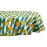 "Pineapple Vinyl Tablecloth 70"" Round - 2"