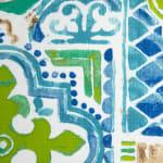 "Spanish Tile Vinyl Tablecloth 70"" Round - 3"