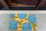 J&M Dahlia Vinyl Back Coir Doormat 18x30 - 2