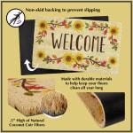 J&M Dahlia Vinyl Back Coir Doormat 18x30 - 3