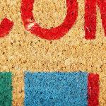 J&M Welcome Stripe Vinyl Back Coir Doormat 18x30 - 5