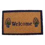 J&M Welcome Lavender Vinyl Back Doormat 18x30 - 1