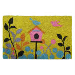J&M Birdhouse Vinyl Back Coir Doormat 18x30 - 2