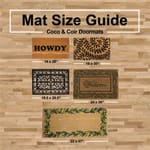 J&M Leaves and Lattice Vinyl Back Coir Doormat 18x30 - 2