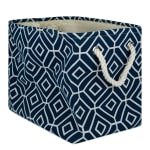 Polyester Storage Bin Stained Glass Navy Rectangle Medium 16x10x12 - 2