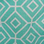 Polyester Storage Bin Stained Glass Aqua Round Medium 12x15x15 - 4