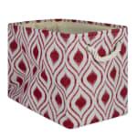 Polyester Storage Bin Ikat Barn Red Rectangle Medium 16x10x12 - 2