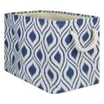 Polyester Storage Bin Ikat French Blue Rectangle Medium 16x10x12 - 2