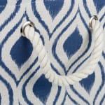Polyester Storage Bin Ikat French Blue Rectangle Medium 16x10x12 - 3