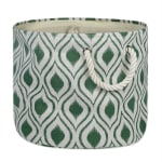 Polyester Storage Bin Ikat Artichoke Round Medium 12x15x15 - 2